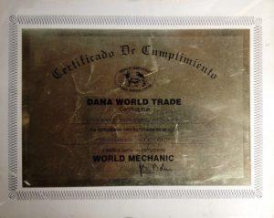 Certificado Dana